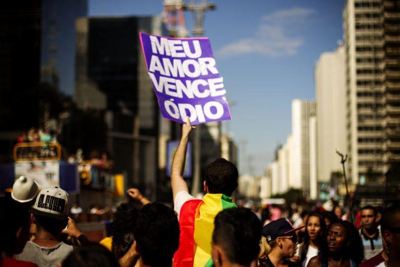 Participantes da 19ª Parada do Orgulho LGBT na Avenida Paulista, São Paulo - SP, Brasil neste domingo 07 de junho. Foto: Leo Pinheiro / Fotos Públicas