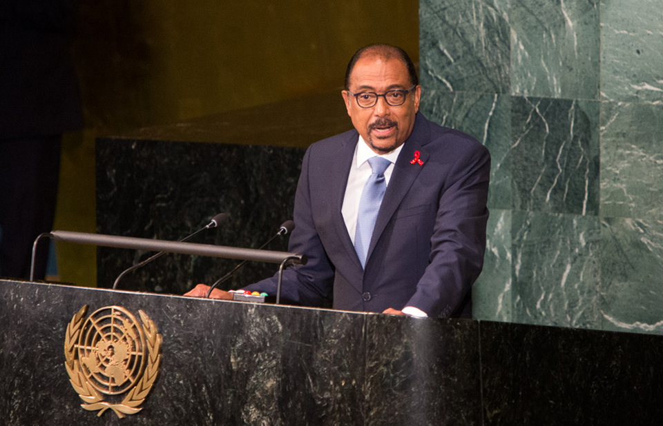 UN General Assembly Plenary: The roadmap to ending AIDS; held at UNHQ, New York, on June 8, 2016.