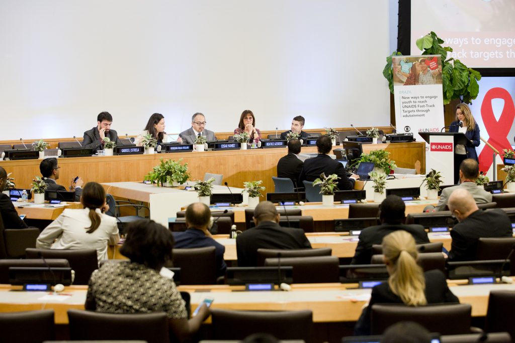 New York, USA - June 9: New ways to engage youth to reach UNAIDS Fast-Track Targets through Edutainment, UNAIDS/GLOBO event, UNAIDS HLM Meeting, UN Headquarters, New York, USA June 9 2016