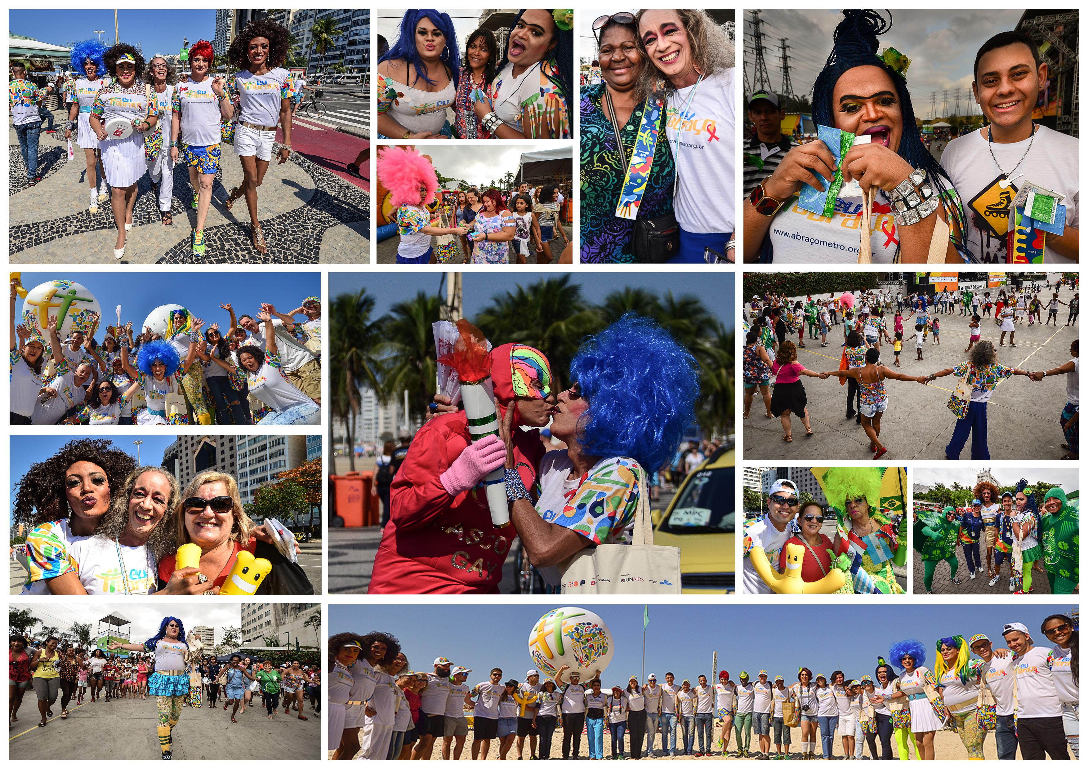 Colagem drags no Boulevard Olímpico e em Madureira 2