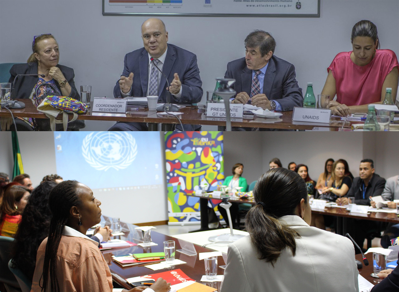 Reunião do GT UNAIDS que aconteceu na Casa da ONU no Brasil e contou com a participação de Niky Fabiancic, Coordenador-residente da ONUBrasil e representante-residente do PNUD no Brasil. Foto: Renato Oliveira/DDAHV