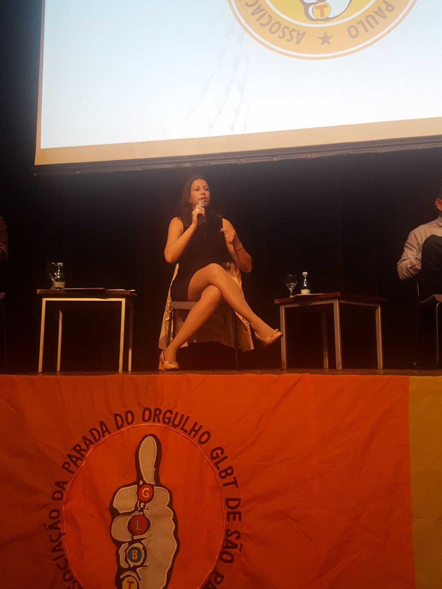 Georgiana Braga-Orillard, Diretora do UNAIDS no Brasil no evento sobre a Parada LGBT