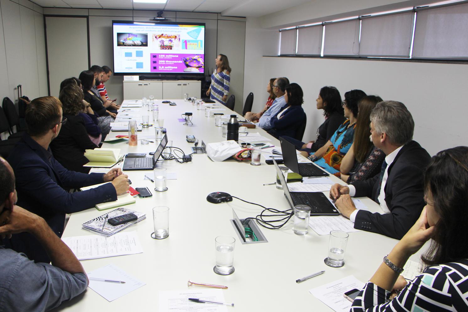 Diretor mundial de Informações Estratégicas do UNAIDS, Peter Ghys no Brasil