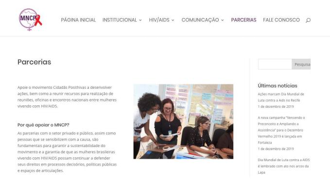 Em Parcerias, organizações do setor privado e público, assim como pessoas que se sensibilizem com a causa, podem preencher um formulário de contato e iniciar uma parceria com o MNCP.